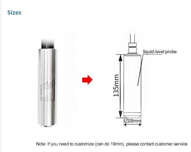 0-5V 4-20mA RS485 Water Level Measuring Measurement Sensor 0-5m Water Liquid Fuel Level Transducer