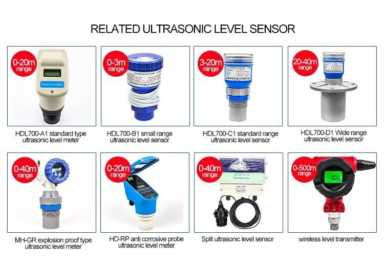5m Range 4-20mA Ultrasonic Water Tank Level Meter Ultrasonic Level Sensor