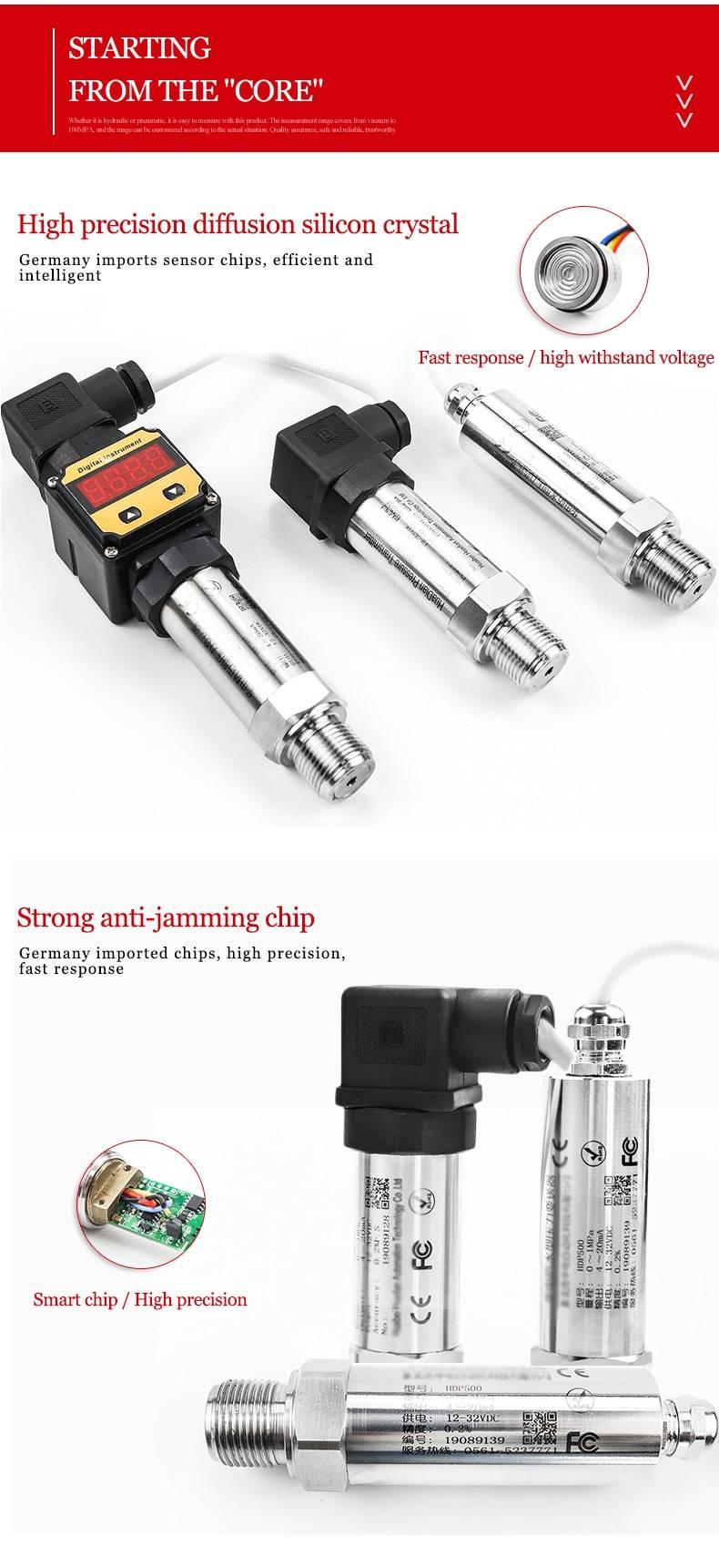 Piezoresistive Air Fuel oil Water Pressure Sensor Model:HDP500
