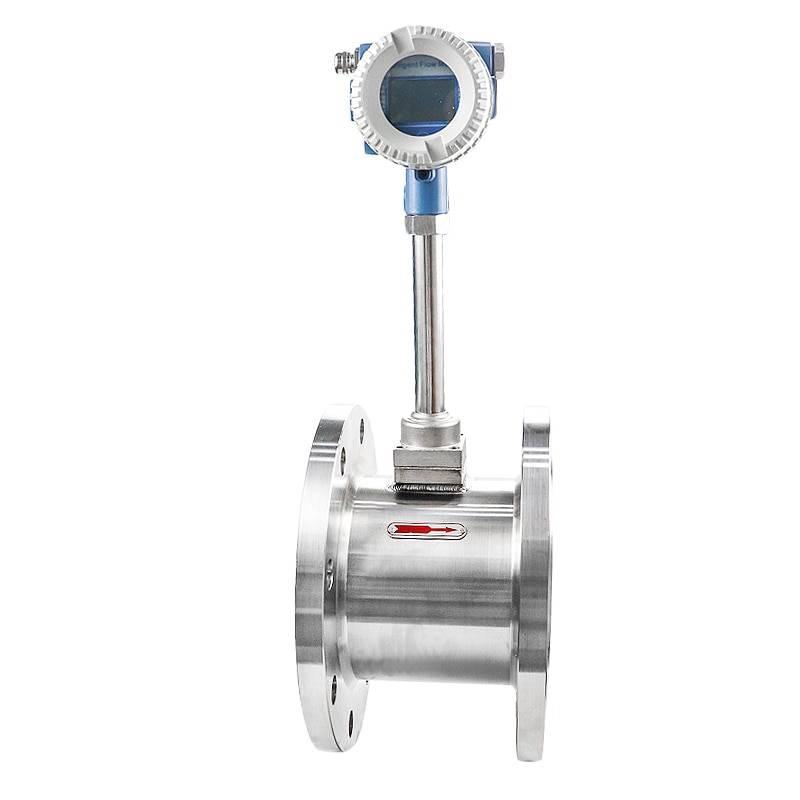 Industrial Vortex Distilled Water vortex insertion flow meter for 45cbm flow rate insertion type gas flowmeter transmitter