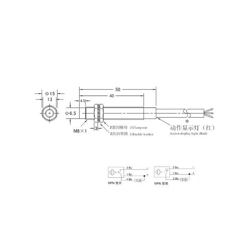 M8 2mm DC 5V NPN NO LJ8A3-2-Z/BX-5V Inductive Proximity Sensor Switch Work Voltage 5VDC Special For MCU