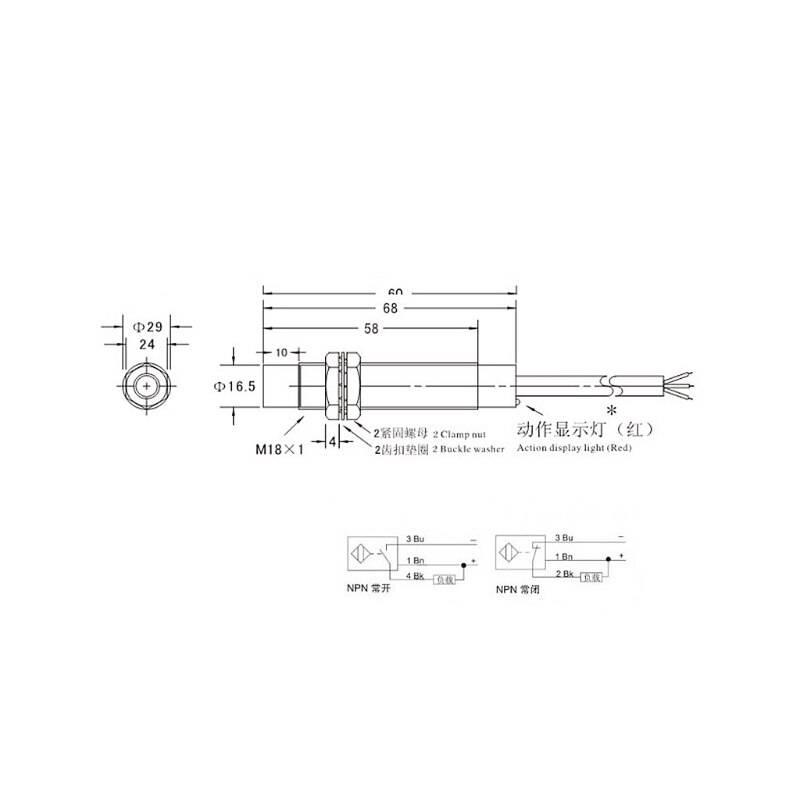 M18 8mm DC 5V NPN NO LJ18A3-8-Z/BX-5V Inductive Proximity Sensor Switch